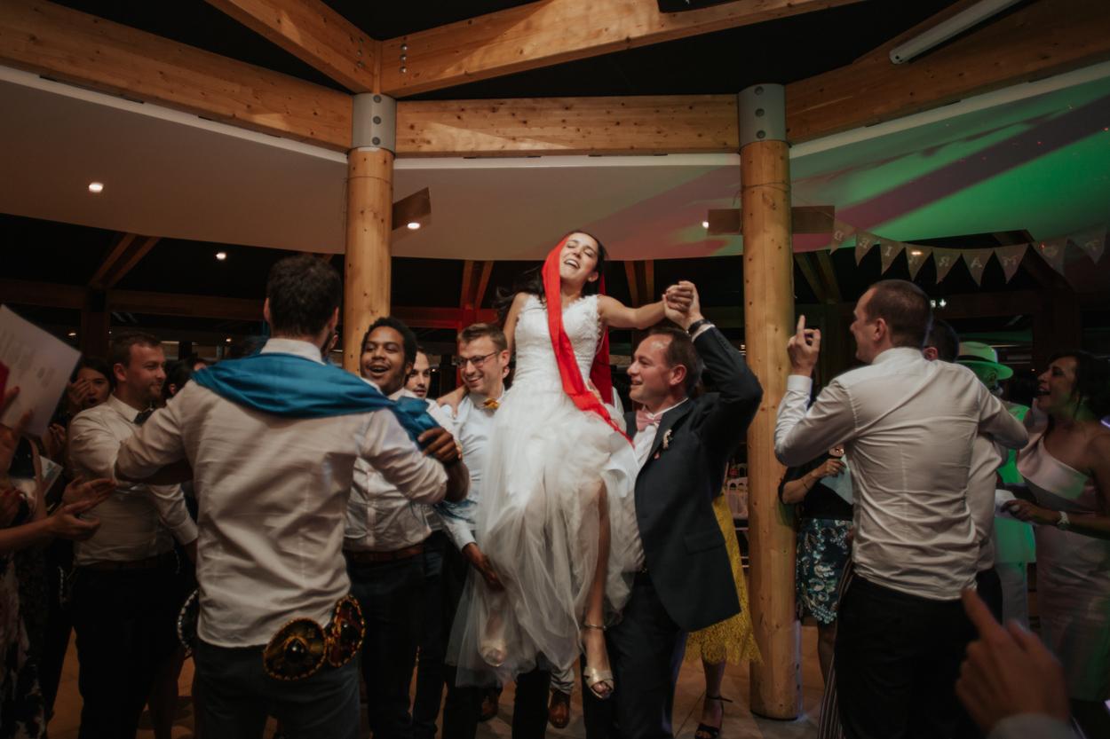 danse mariés mariage franco-mexicain chateau morbecque