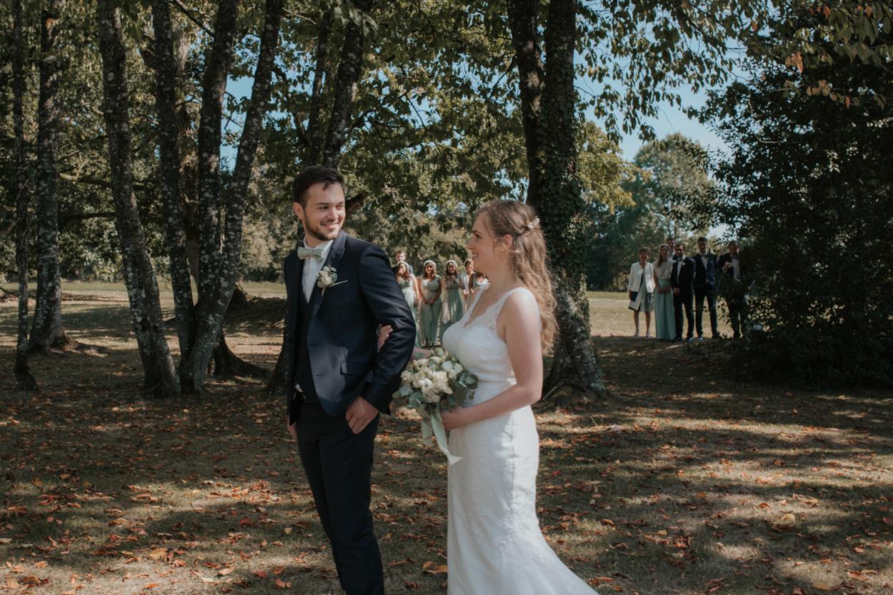 découverte mariés parc domaine laumondière mariage
