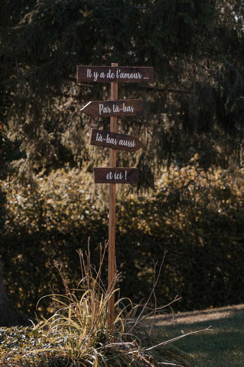 panneau indicateur directions bois