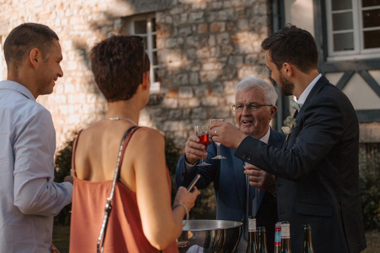 cocktail vin d'honneur mariage domaine laumondiere bagnoles de l'orne