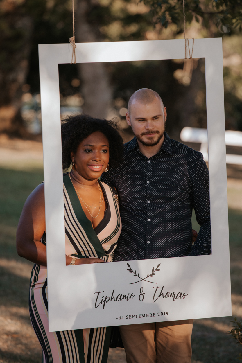 photobooth cadre polaroid mariage domaine laumondiere