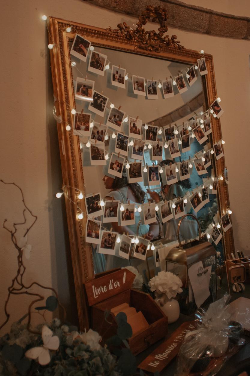 décoration cadre polaroid domaine laumondiere