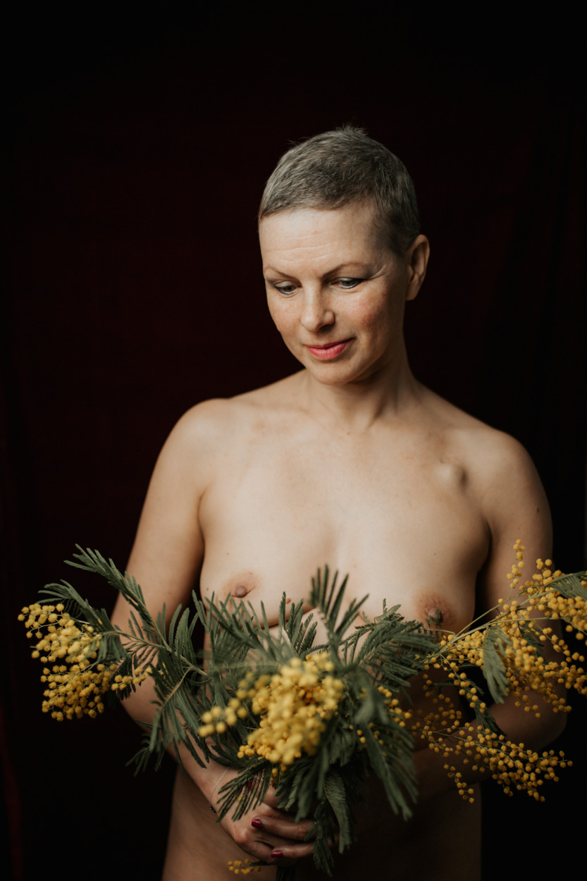 séance studio domicile femme mimosa