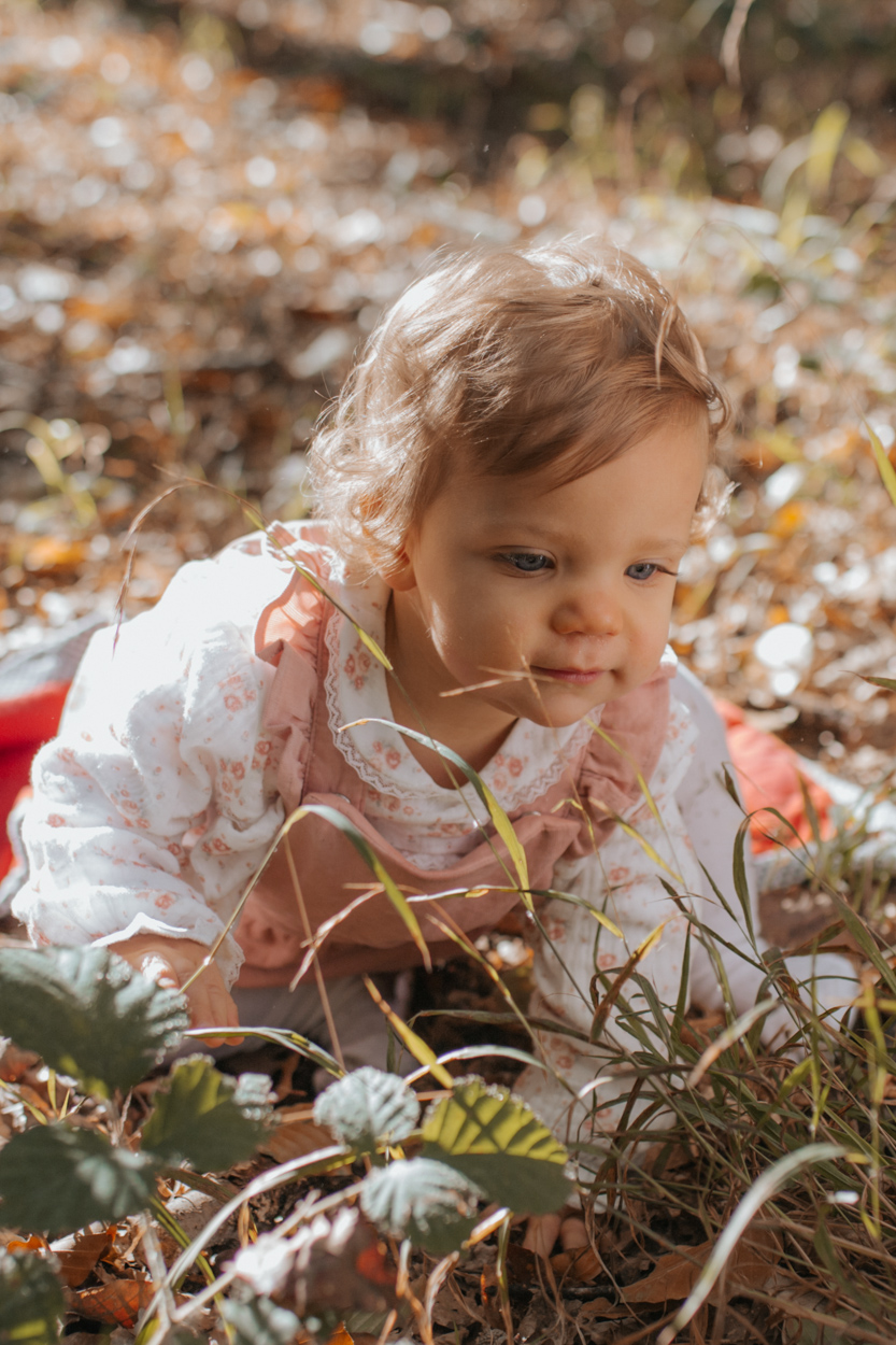 portrait bébé 1 an forêt fontainbleau
