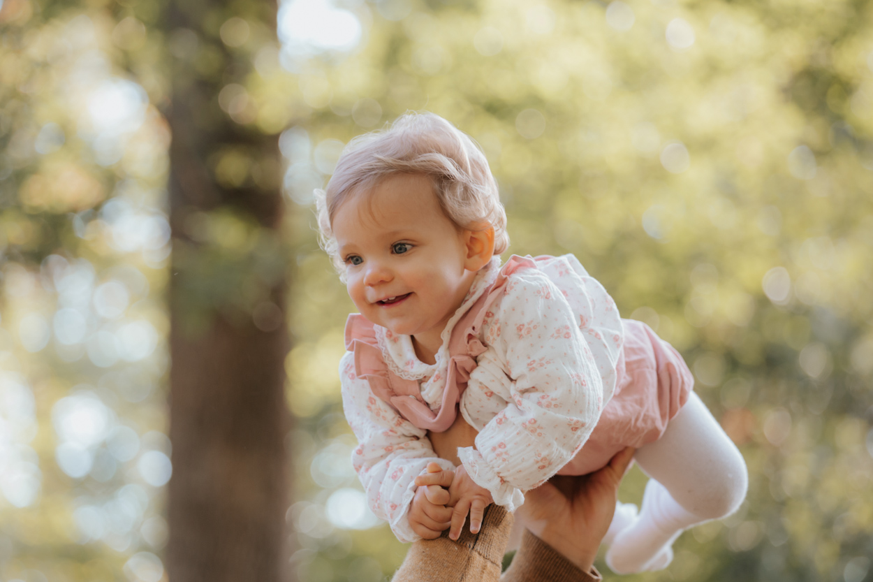 portrait bébé 1 an forêt fontainebleau